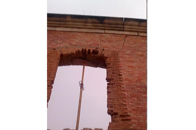 Hueco ventana sin restaurar