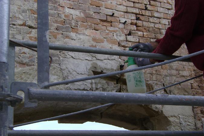 Restauracion dintel de piedra