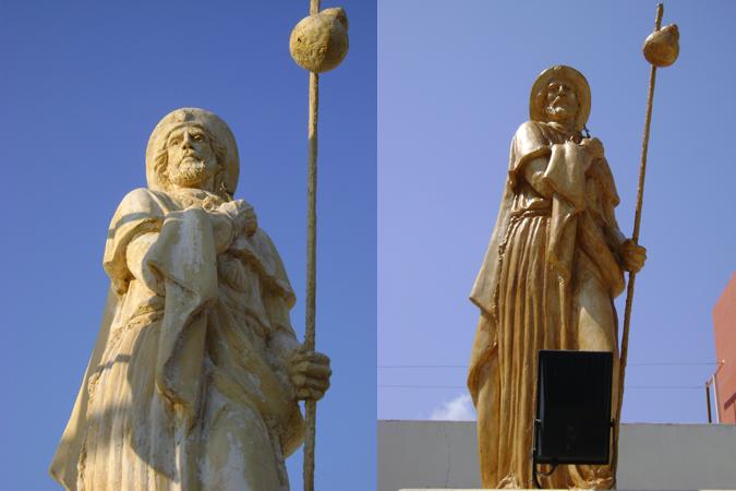 Santiago antes y despues de restauracion