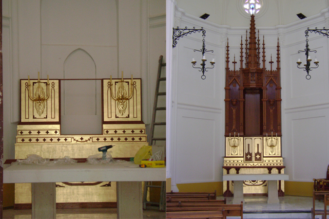 Retablo altar mayor Ermita Algorfa